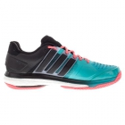 Adidas Men's Total Energy Boost Tennis Shoes (Green/ Black/ Red) - Performance Tennis Shoes
