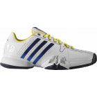 Adidas Barricade Novak Pro Men's Tennis Shoes (White/ Blue/ Yellow) - Adidas Tennis Shoes