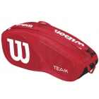 Wilson Team II Red 6 Pack Tennis Bag (Red/ White) - Wilson