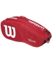 Wilson Team II Red 6 Pack Tennis Bag (Red/ White) - Wilson Tennis Bags