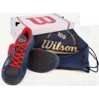 Wilson Mens 100 Year Rush Pro Tennis Shoes (Grey/ Red) - Men's Tennis Shoes