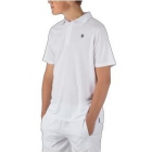 K-Swiss Men's Performance 2-Tone Tennis Polo (White/Insignia Blue) - Men's Polo Shirts