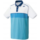 Yonex Men's Wawrinka Paris London Tennis Polo (White/Blue) - Men's Polo Shirts