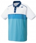 Yonex Men's Wawrinka Paris London Tennis Polo (White/Blue) - Men's Tennis Apparel