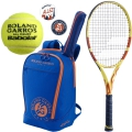 Babolat Roland Garros Pure Aero Racquet Pack w/ Backpack + Dampeners + RG All Court Balls
