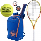 Babolat Roland Garros Pure Aero Lite Racquet Pack w/ Backpack + Dampeners + RG All Court Tennis Ball - Babolat Roland Garros Tennis Racquets, Bags and Accessories