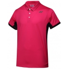 Yonex Men's Wawrinka Paris London Tennis Polo (Dark Pink) - Men's Polo Shirts