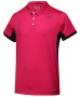 Yonex Men's Wawrinka Paris London Tennis Polo (Dark Pink) - Men's Tennis Apparel
