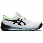 ASICS Men's Gel-Resolution 8 Tennis Shoe (White/Green Gecko) -