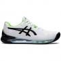 1041A079-105 ASICS Men's Gel-Resolution 8 Tennis Shoe (White/Green Gecko)
