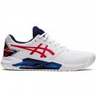Asics Men's Gel-Challenger 13 L.E. Tennis Shoes (White/Classic Red) -