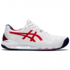 Asics Men's Gel-Resolution 8 L.E. Tennis Shoes (White/Classic Red) -