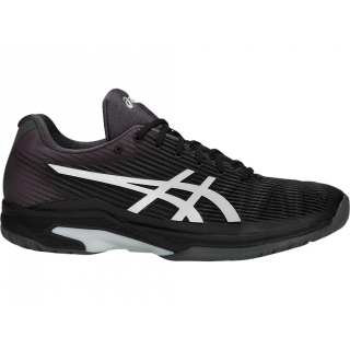 Asics Men's Solution Speed FF Tennis Shoes (Black/Silver)