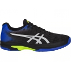 Asics Men's Solution Speed FF Tennis Shoes (Black/Illusion Blue) - Asics Gel-Solution and Solution Speed Tennis Shoes