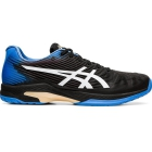 Asics Men's Solution Speed FF Clay Tennis Shoes (Black/Blue Coast) - Labor Day Sale! Discount Prices on Men's Tennis Shoes