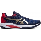 Asics Men's Solution Speed FF Tennis Shoes (Peacoat/Champagne) - Labor Day Sale! Discount Prices on Men's Tennis Shoes