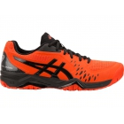 Asics Men's GEL-Challenger 12 Tennis Shoes (Cherry Tomato/Black) - Types of Tennis Shoes