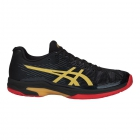 Asics Men's Solution Speed FF L.E. Tennis Shoes (Black/Rich Gold) - Asics Gel-Solution and Solution Speed Tennis Shoes