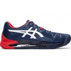 Asics Men's Gel Resolution 8 Clay Tennis Shoes (Peacoat/White) - Asics