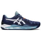 ASICS Men's Gel-Resolution 8 Clay Court Tennis Shoes (Mako Blue/White) - Asics Tennis Shoes