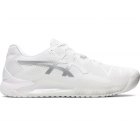 Asics Men's Gel Resolution 8 Tennis Shoes (White/Pure Silver) - Asics Gel-Resolution Tennis Shoes