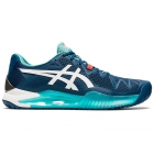 ASICS Men's Gel-Resolution 8 Tennis Shoes (Mako Blue/White) - Asics Gel-Resolution Tennis Shoes