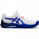 ASICS Women's Gel-Resolution 8 Tennis Shoe (White/Lapis Lazuli Blue) -