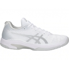 Asics Women's Solution Speed FF Tennis Shoes (White/Silver) -