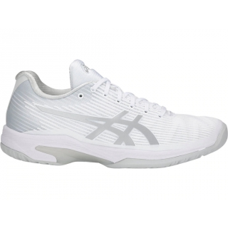Asics Women's Solution Speed FF Tennis Shoes (White/Silver)