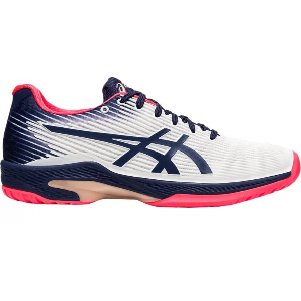 Asics Women's Solution Speed FF Tennis Shoes (White/Peacoat)