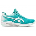 ASICS Women's Solution Speed FF Tennis Shoes (Techno Cyan/White)  - Two Day - Women's Shoes Asics