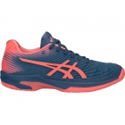 Asics Women's Solution Speed FF Tennis Shoes (Grand Shark/Papaya) - Asics Gel-Solution and Solution Speed Tennis Shoes