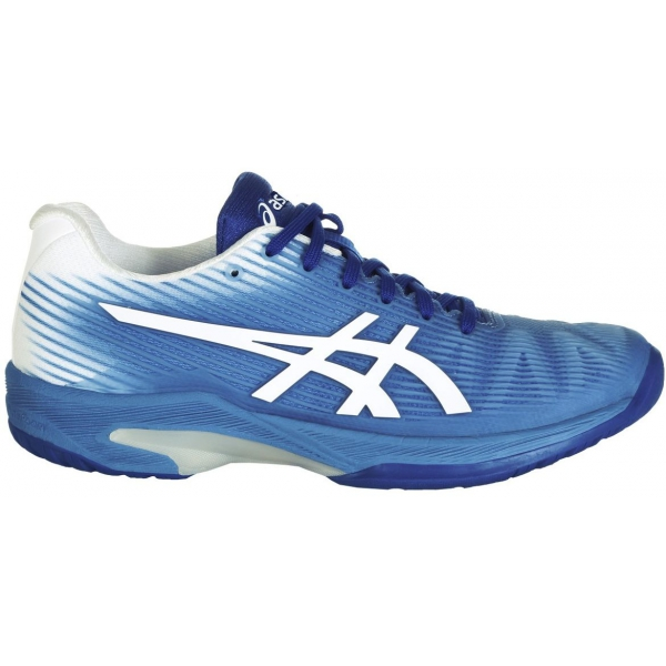 Asics Women's Solution Speed FF Tennis Shoes (Blue Coast/White)