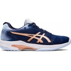 Asics Women's Solution Speed FF Tennis Shoes (Peacoat/Rose Gold) - Asics
