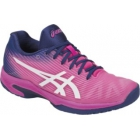 Asics Women's Solution Speed FF Tennis Shoes (Pink Glow/White) - Tennis Shoes