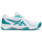 ASICS Women's Gel-Challenger 12 Tennis Shoes (White/Techno Cyan) - Two Day - Women's Shoes Asics