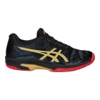 Asics Women's Solution Speed FF L.E. Tennis Shoes (Black/Rich Gold) - Asics Tennis Shoes