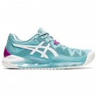 ASICS Women's Gel-Resolution 8 Tennis Shoes (Smoke Blue/White) -