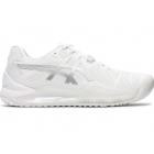 Asics Women's Gel Resolution 8 Tennis Shoes (White/Pure Silver) - Asics Tennis Shoes