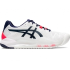 Asics Women's Gel Resolution 8 Tennis Shoes (White/Peacoat) - Asics Gel-Resolution Tennis Shoes