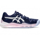 Asics Women's Gel Resolution 8 Tennis Shoes (Peacoat/White) - Asics Gel-Resolution Tennis Shoes
