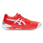 ASICS Women's Gel-Resolution 8 Tennis Shoes (Fiery Red/White)  - Asics Tennis Shoes