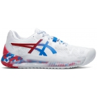 Asics Women's Gel Resolution 8 Tennis Shoes (White/Electric Blue) - Asics Gel-Resolution Tennis Shoes