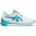 ASICS Women's Gel-Resolution 8 Wide Tennis Shoes (White/Lagoon) - Specials & Deals on Premium Tennis Gear
