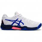 ASICS Kids' Gel-Resolution 8 GS Junior Tennis Shoe (White/Lapis Lazuli Blue) -