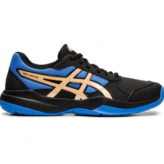 Asics Junior Gel-Game 7 GS Tennis Shoes (Black/Champagne)