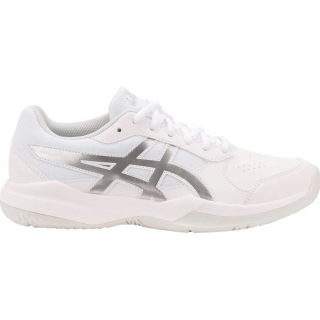 Asics Junior Gel-Game 7 GS Tennis Shoes (White/Silver)