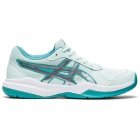 ASICS Kids' Gel-Resolution 8 GS Junior Tennis Shoes (White/Lagoon) -