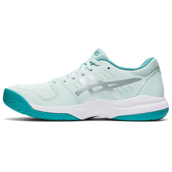 ASICS Kids' Gel-Resolution 8 GS Junior Tennis Shoes (White/Lagoon)