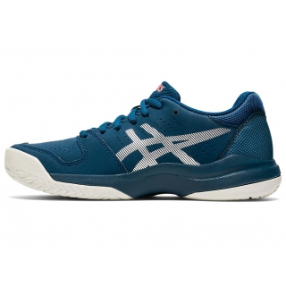 ASICS Kids' Gel-Game 7 GS Junior Tennis Shoes (Mako Blue/Pure Silver)